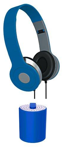 Vibe Sound Vs-Btaub-Blu Stereo Headphones And Mini Bluetooth Audio Combo Kit, Black