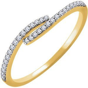 14kt Rose 1/6 CTW Diamond Ring