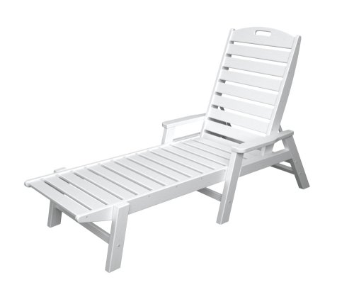 polywood outdoor furniture nautical stackable chaise lounge with arms