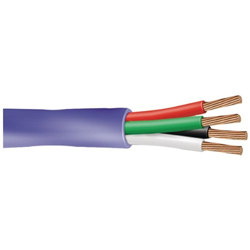 Vextra Va164B Blue 16-Gauge, 4-Conductor Audio/Speaker Wire, 500 Ft (Va164B Blue)