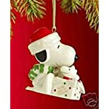 Lenox A Surprise for Snoopy Christmas Ornament