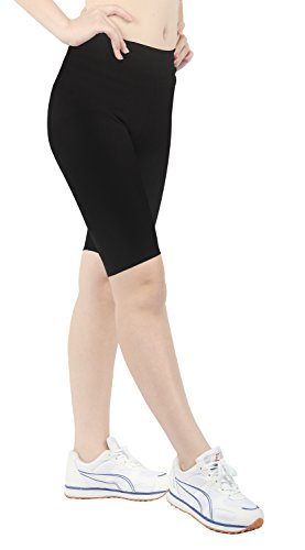 iLoveSIA Women's Tight Capri Yoga Workout Short Legging US Size XL Black