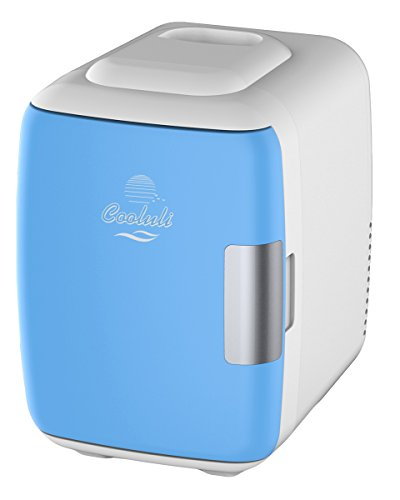 Cooluli Mini Fridge Electric Cooler and Warmer (4 Liter / 6 Can): AC/DC Portable Thermoelectric System w/ USB Power Cord (Blue) (Refrigerator Mini Bar compare prices)