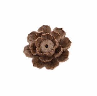 Quemadordeinciensorecipientesoporte Marrón Flor rústico