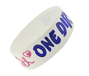 White So In Love With One Direction Wristband So In Love With One Direction Bracelet 1 Wide 6 from Hinky Imports