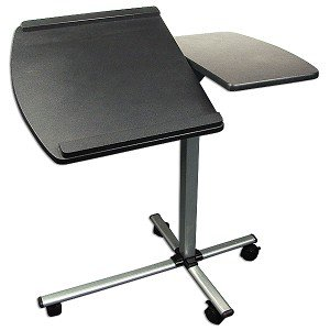 Split-Top Laptop Caddy! Portable Adjustable Rollin