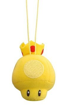 Mario Kart Fuwa Fuwa Plush Cleaning Cloth Mascot Keychain Gold Mushroom