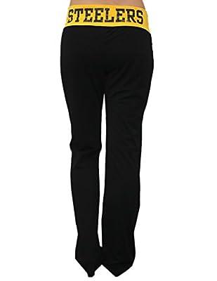 NFL Womens Team Logo Glitter Lounge / Yoga Pants - PITTSBURGH STEELERS