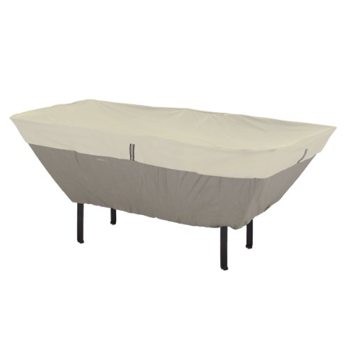 Classic Accessories 55-254-011001-00 Belltown Rectangular/Oval Patio Table Cover, Grey
