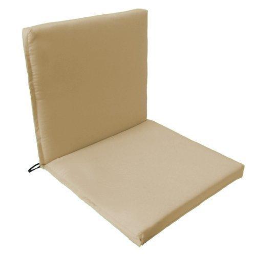 Gartenstuhl-Sitzpolster /-kissen, 2-teilig, Schnur zum Binden, elastischer Überzug auf der Rückseite für Innen / Außen, hochwertig, wasserabweisend, Limettengrün