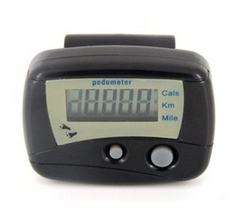 Image of Multifunctional Electronic Digital Pedometer Step Counter (Black) (B00A3US0OK)