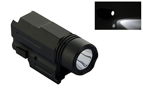 Number-One 200 Lumens CREE LED Tactical Gun Flashlight Torch Pistol Handgun Torch Light Lamp with Mount for Hiking Camping Hunting and Other Outdoor Activities