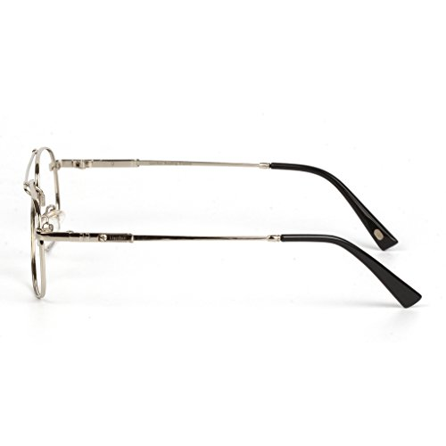 Liansan Brand Designer High Quality Retro Vintage Bifocal Reading Glasses Mens Eyeglasses L3695T(silver,+2.50) 4