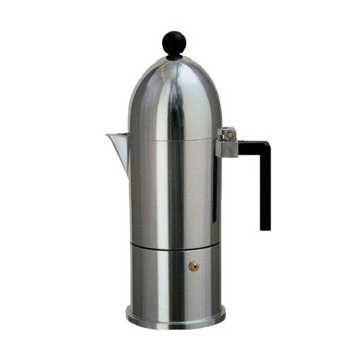 【正規輸入品】 ALESSI アレッシィ La cupola ラ・クーポラ エスプレッソ コーヒーメーカー / 3カップ用 ブラック A9095/3 B