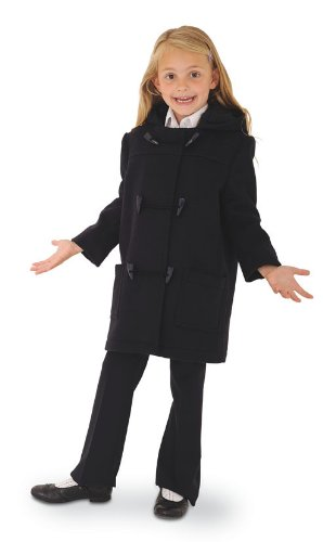 Childs Classic Wool Duffle Coat - Navy - Age 8