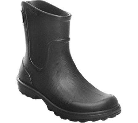 Crocs Men's Work Wellie Rain Boot,Black/Black,US 4 M