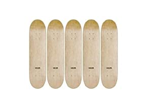5 Pop-lite Natural Blank 8.0 Skateboard Pro Decks with Jessup Grip Tape Lot