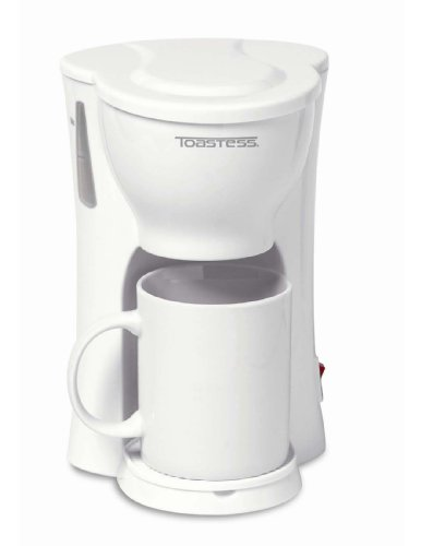 Toastess International 1-Cup Personal Coffee Maker with 10-Ounce Mug, White