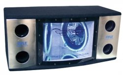 Pyle PLBN122 Dual 12'' 2 Way 1200 Watt Bandpass w/Blue Woofer Rings by Sound Around