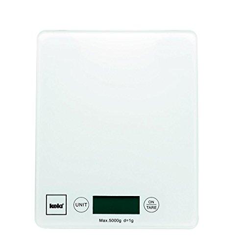 Kela 15740 balance de cuisine digitale, 16 x 20 cm, verre, blanc, 'Pinta'
