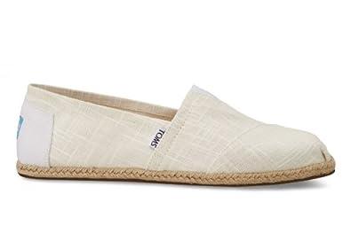 Toms Men's Shoes Classic Espadrille Slip On 10001325 10.5 M White
