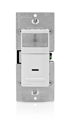 Leviton Ipv15-1Lz 1800-Watt Incandescent, 600-Watt Led/Cfl Vacancy Sensor (Manual On/Auto Off), Single Pole Or 3-Way