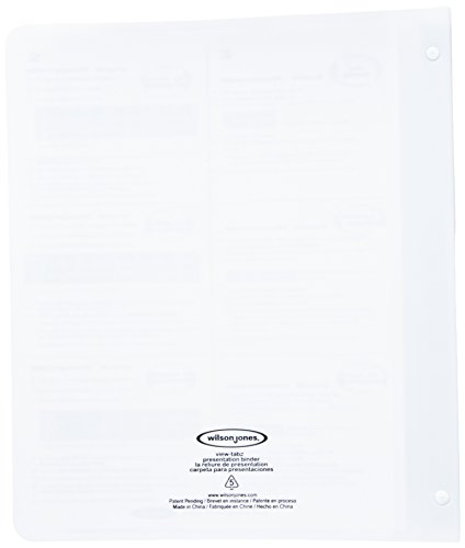 Wilson jones view tab presentation 5 tab binder 5 8 for Templates wilson jones 8 tabs