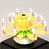 The Amazing Happy Birthday Candle - YELLOW