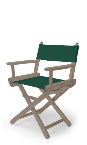 Telescope Casual Child'S Director Chair, Rustic Grey With Forest Green Canvas Fabric