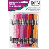 Cotton Embroidery Floss Pack 8.7 Yards 36-Pack: Pastel Colors