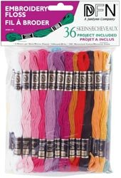 Bulk Buy- Janlynn Cotton Embroidery Floss Pack 8.7 Yards 36/Pkg Pastel Colors 3001-30 (6-Pack)