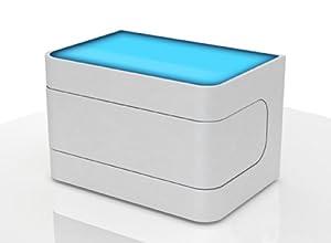 sam nachtkommode konsole in wei mit led nako 88 exklusiv pflegeleicht nachtkonsole nachttisch. Black Bedroom Furniture Sets. Home Design Ideas