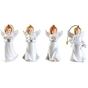 "Hanging Angel Ornament 4"" Set Of 4"