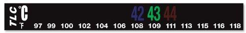 DigiTemp 13 Level Horizontal Liquid Crystal Dual Scale Thermometer 36-48C (97-118F)