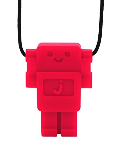Jellystone Robot Pendant Teether - Scarlet Red by Jellystone (Jellystone Robot Teether compare prices)
