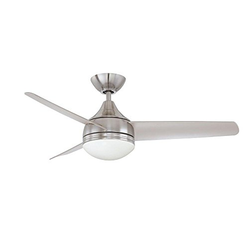 kendal lighting ac19242 sn moderno 42 inch 3 blade 1 light ceiling fan satin nickel finish with. Black Bedroom Furniture Sets. Home Design Ideas