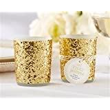 """ALL THAT GLITTERS"" GOLD GLITTER VOTIVE/TEALIGHT HOLDER