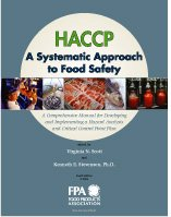 Haccp, a Systematic Approach to Food Safety