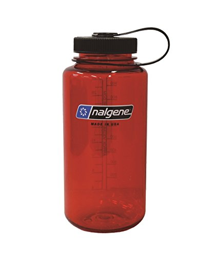 Nalgene Tritan Wide Mouth BPA-Free Water Bottle, Lollipop Red, 32 oz (Ice Rescue Gear compare prices)