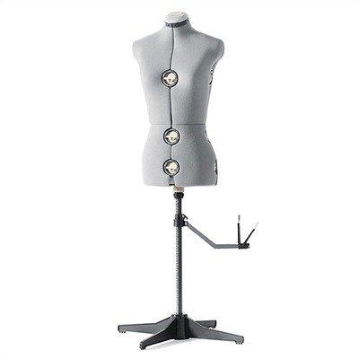SINGER DF150G Adjustable Dress Form, Gray, Medium