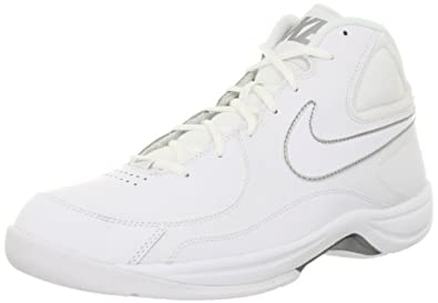 Nike Men's The Overplay VII White/White/Metallic Silver Basketball Shoe 9 Men US