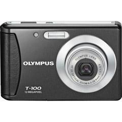 Olympus T-100 12MP 2.4 LCD Digital Camera (Black)