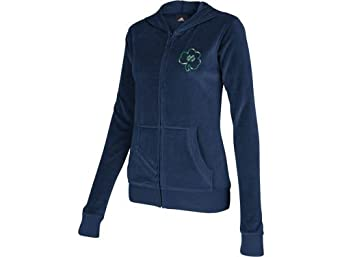 Notre Dame Fighting Irish Ladies Scholarship Velour Full Zip Hoody by adidas