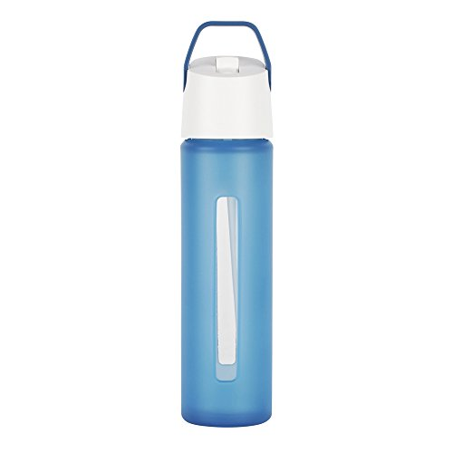 Takeya Modern Flip Straw with Carry Handle, 18-Ounce, Blue (Takeya Glass Water Bottle compare prices)