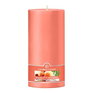 Colonial Candle Grapefruit and Wheatgrass 3-Inch by 6-Inch Smooth Pillar