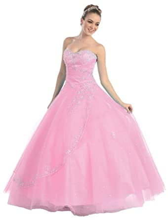 Faironly M25 Pink Formal Prom Dress , Size|S