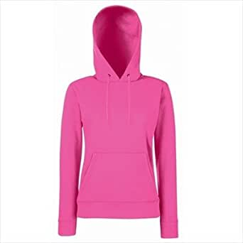 Fruit of the Loom - Lady-Fit Hooded Sweat M,Fuchsia