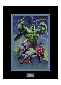 Alex Horley : Heroes I (9×12) Marvel Comics Artwork Disney