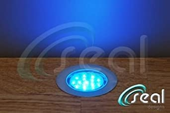 10 x 60mm led lights deck decking kitchen plinth blue now with
