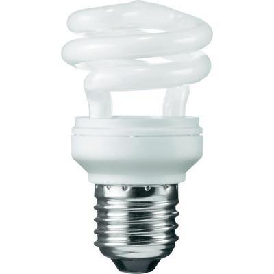 Osram 63159B1 Duluxstar Mini Twist E27 mini Energiesparlampe in gedrehter Form 11W/840, kaltweiß